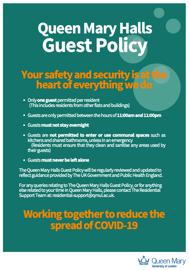 QM guest policy poster