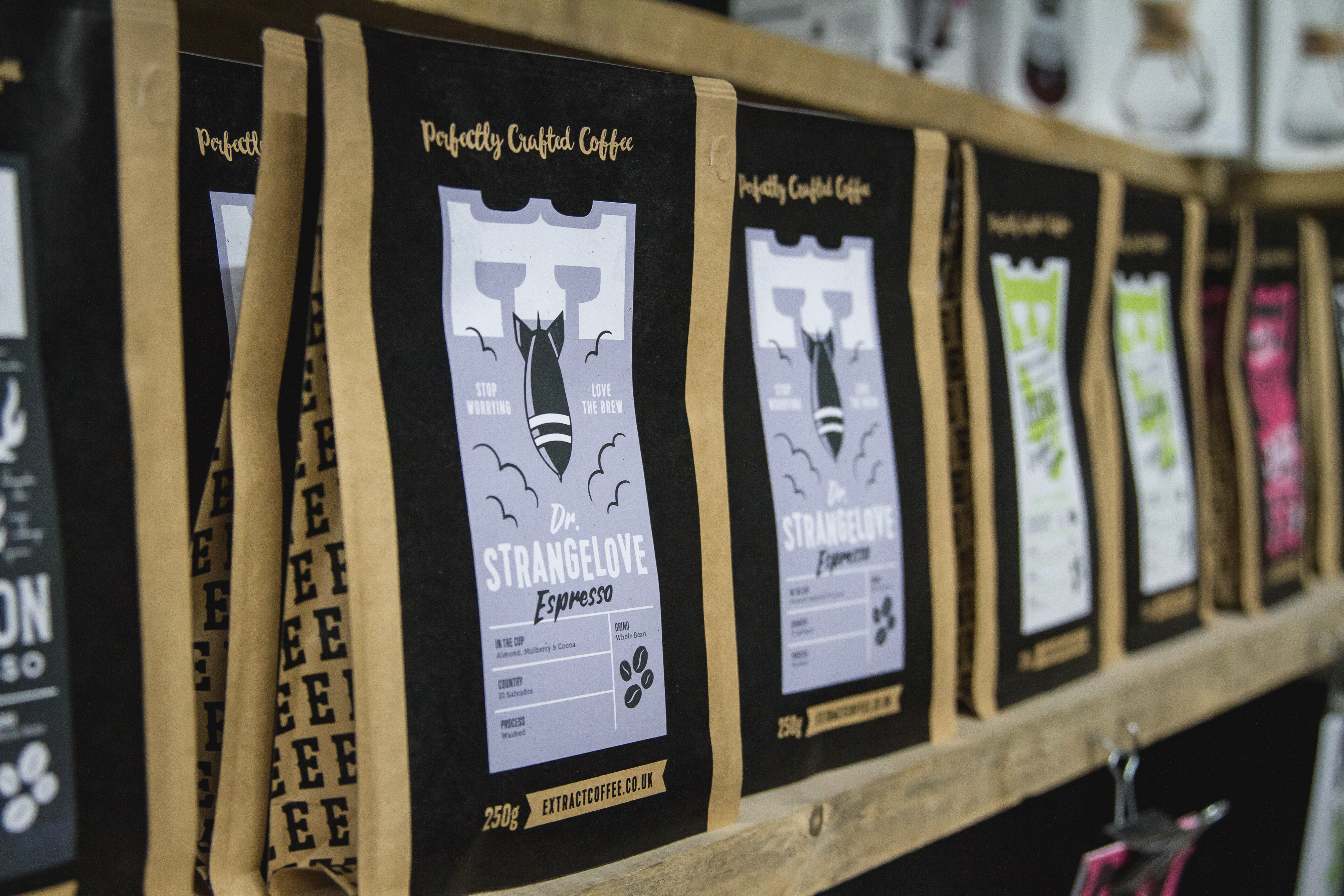 extract retail bags of coffee