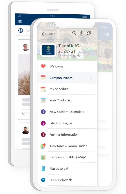 a screenshot of team uofg app