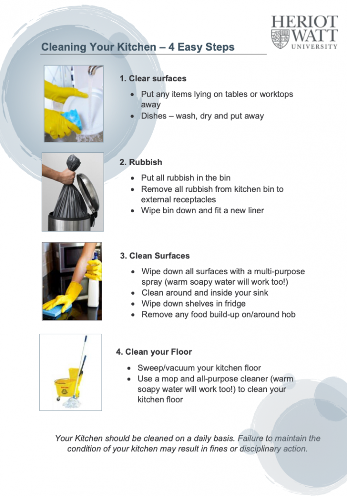 cleaning guidance poster