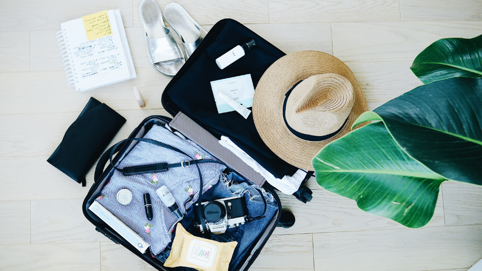 holiday packing in a suitcase