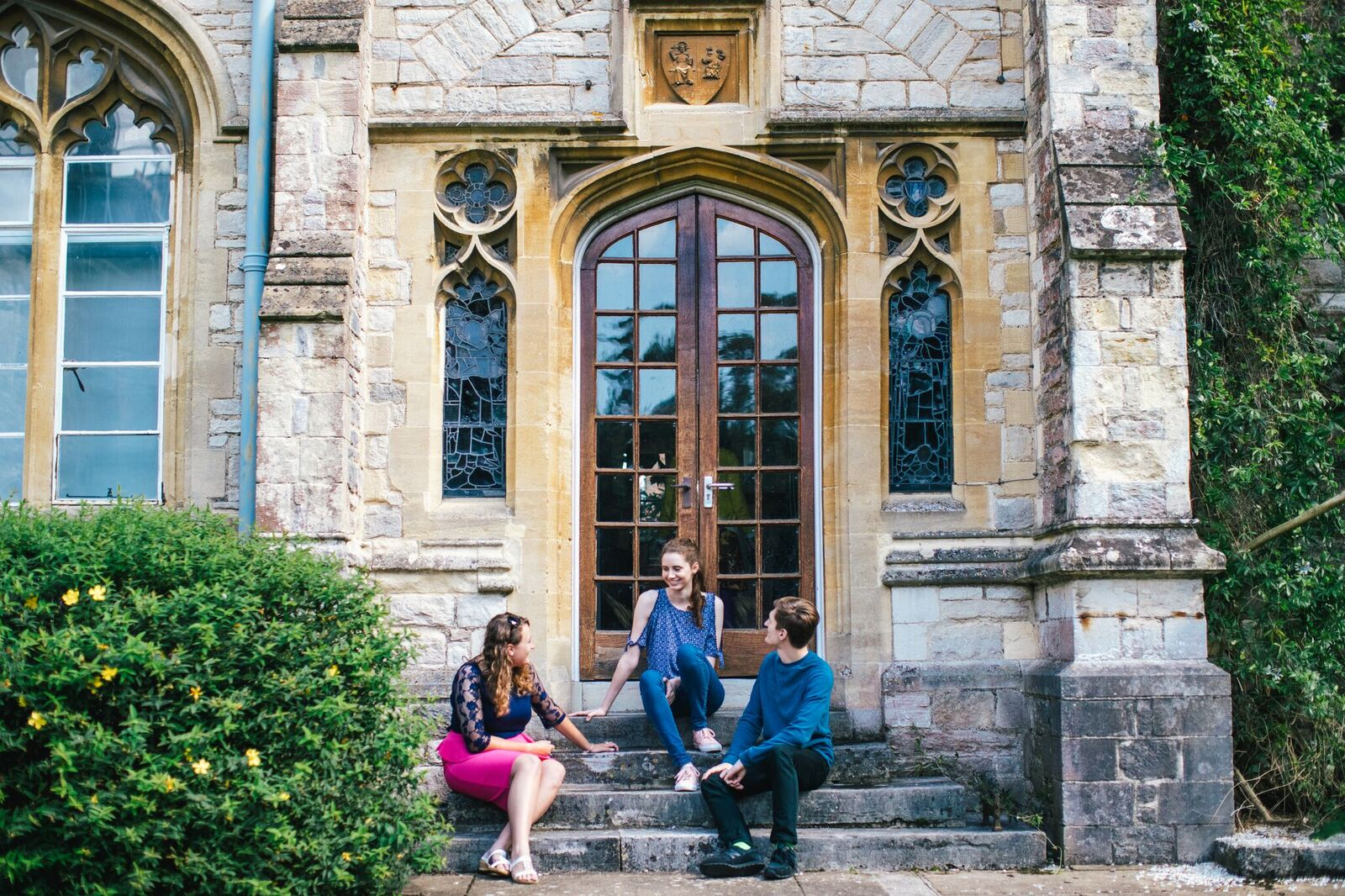 Students in Cloisters