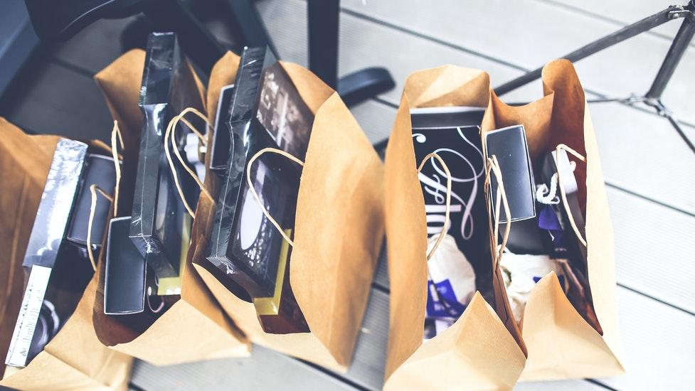 multiple shopping bags