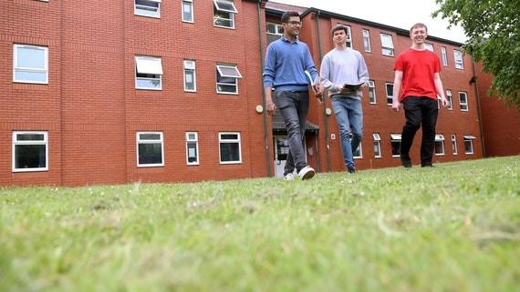 students outside accomm