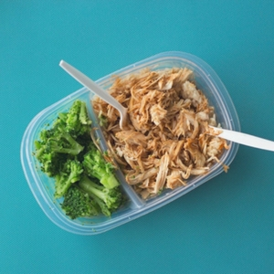 food in a Tupperware box